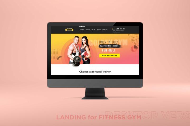 Лэндинг для фитнес-зала