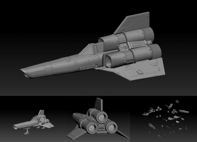 3D модель космического корабля