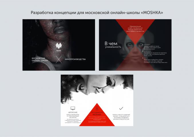 """Разработка концепции для московской онлайн-школы """"MOSHKA"""""""