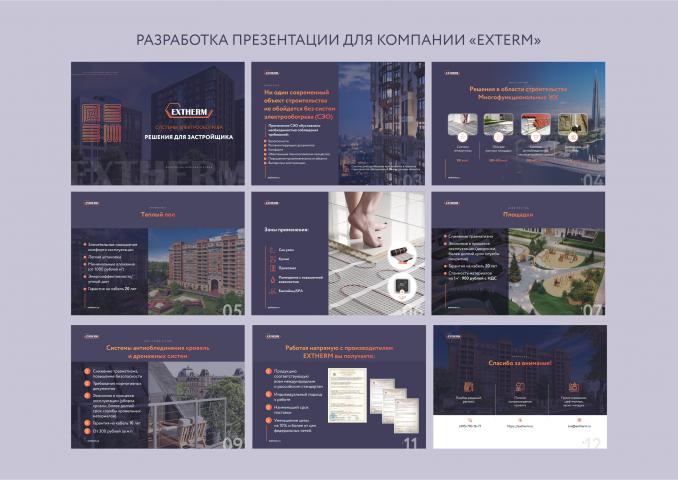 """Разработка презентации для компании """"EXTERM"""""""