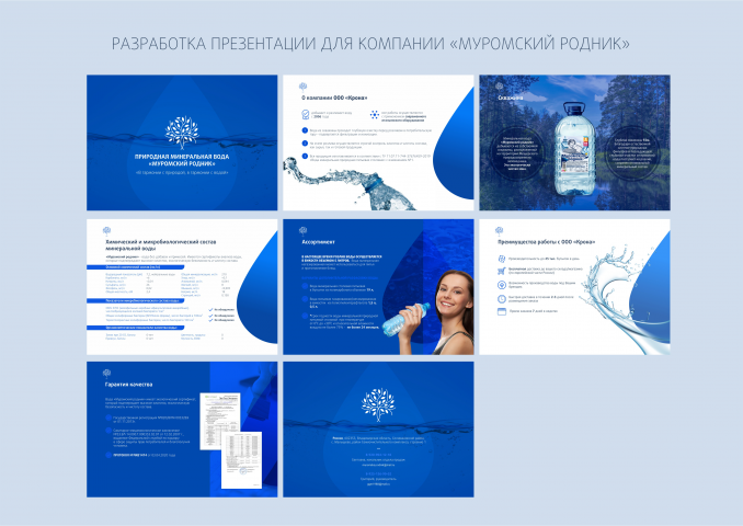 "Разработка презентации для компании ""Муромский родник"""