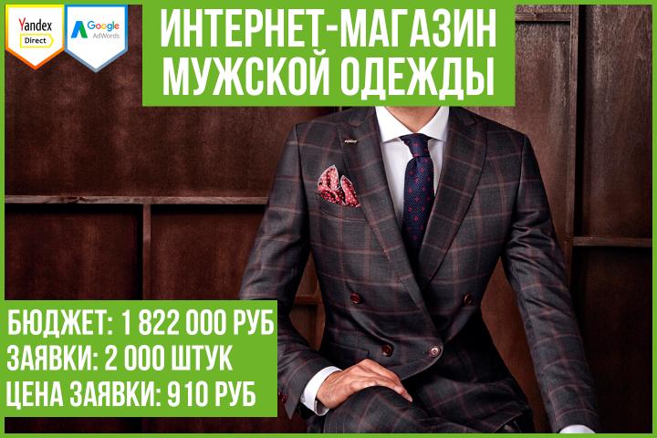 Кейс: продвижение интернет-магазина мужской одежды (Москва)