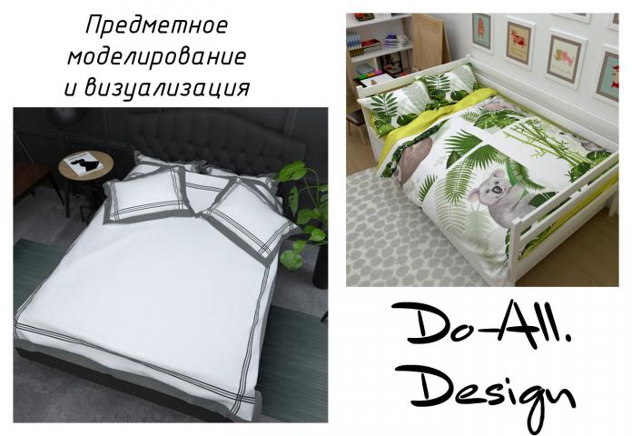 Визуализация принтов постельного белья