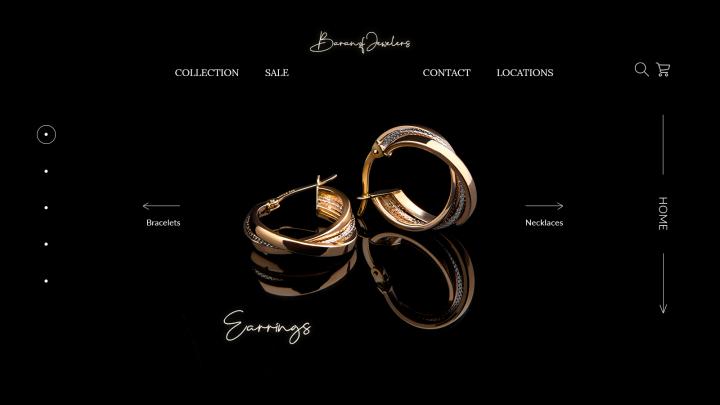 Дизайн сайта для ювелирного магазина
