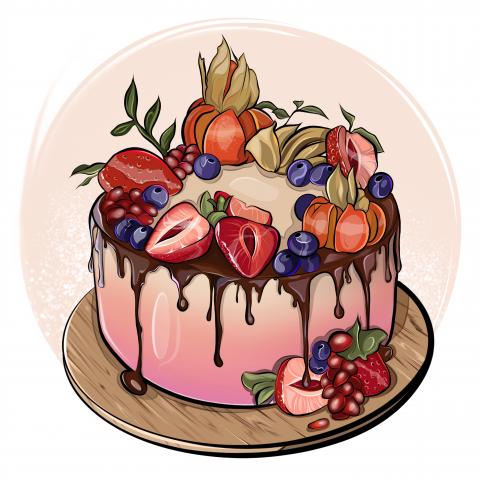 Иллюстрации для логотипа кондитерской