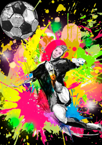 Рисунок на футболку для молодого футболиста
