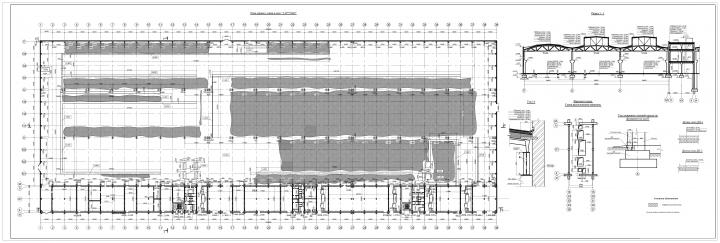 Обмерный чертеж производственного здания
