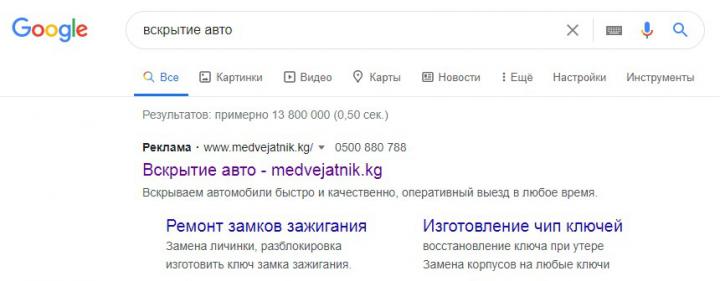 Настройка контекстной рекламы в Google(Medvejatnik.kg)