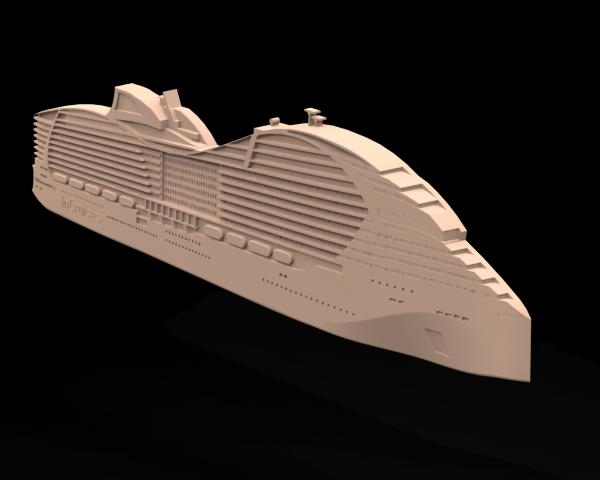 Барельеф круизного лайнера MSC
