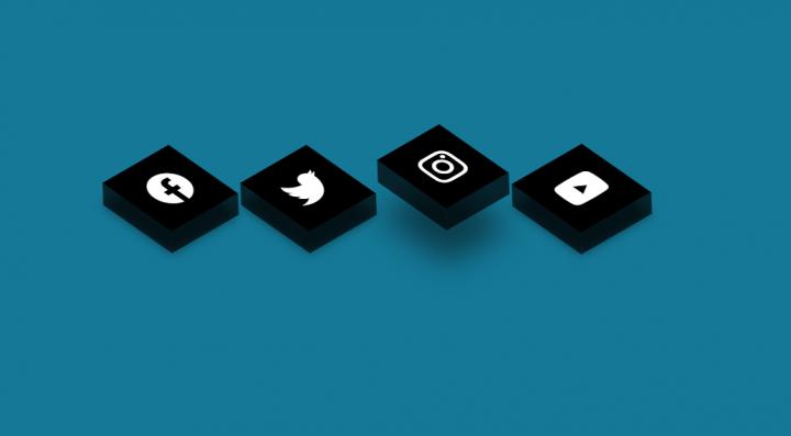 css 3d кнопки соц сетей