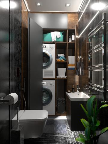 Дизайн - визуализация ванной комнаты