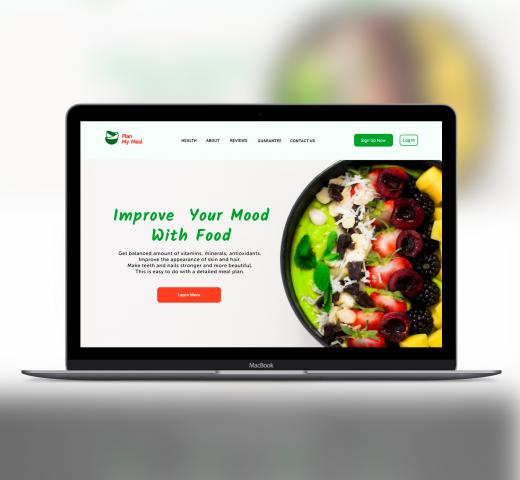 Дизайн Лендинга для Программы питания