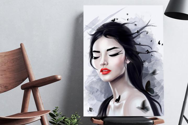 Asmira (digital drawing) цифровой портрет