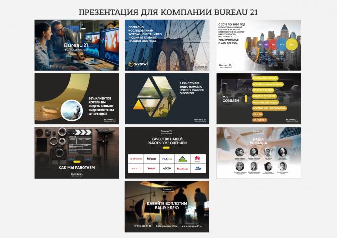 Презентация для компании Bureau 21