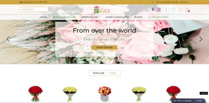 G&F  Интернет-магазин цветов