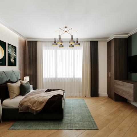 Дизайн спальни частного дома