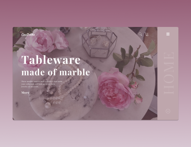 Tableware made of marb