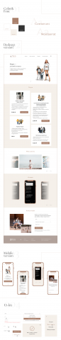 Landing page для стилиста