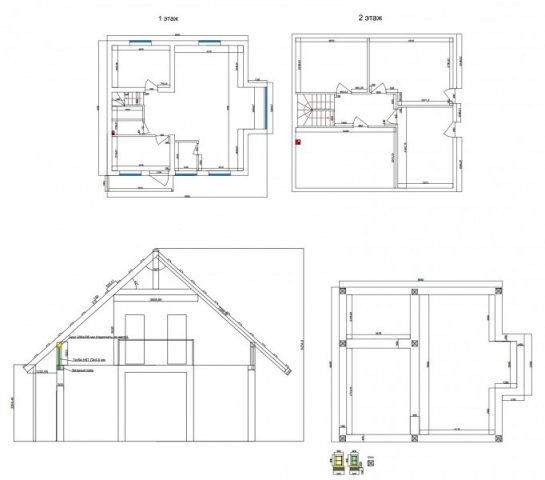 Проект 2х этажного дома