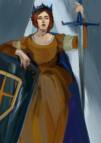 Taro- Queen of swords