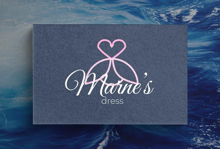 Логотип для ателье Marne's dress