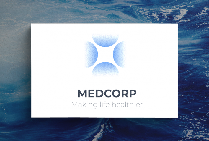 Логотип медицинского центра Medcorp