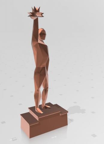 Моделирование Low poly статуи для награждения