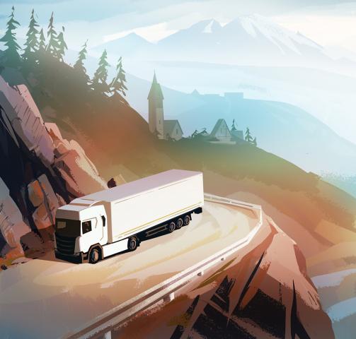 Иллюстрация для транспортной компании