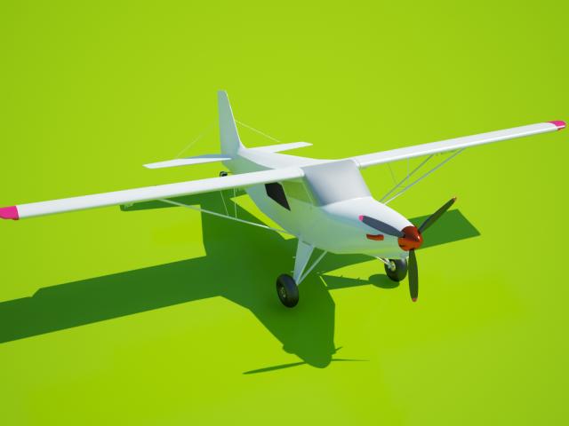 3Д-модель самолета