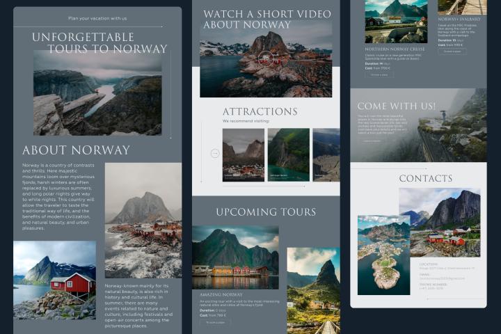 Сайт про Норвегию на английском языке