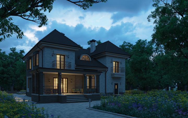 Визуализация загородного дома - новый вариант визуализации_7