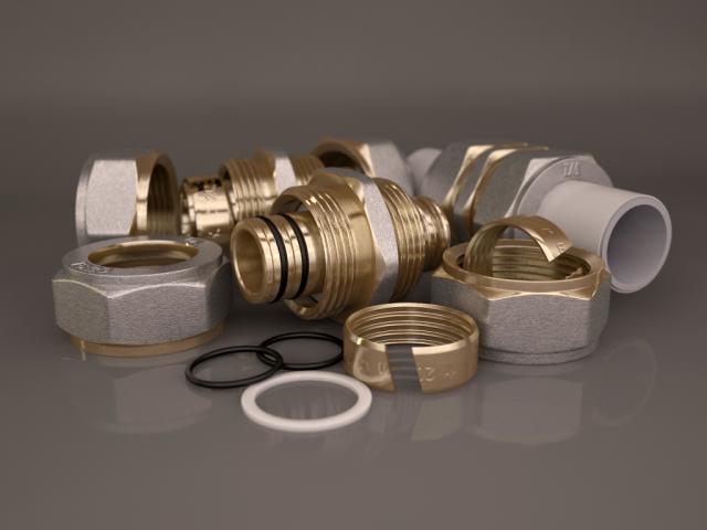 Фитинг соединительный обжимной для металлопластиковых труб 20мм