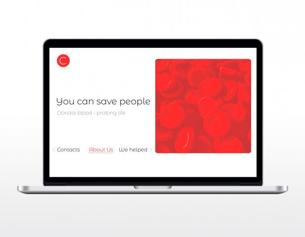 Дизайн сайта - Донорства крови