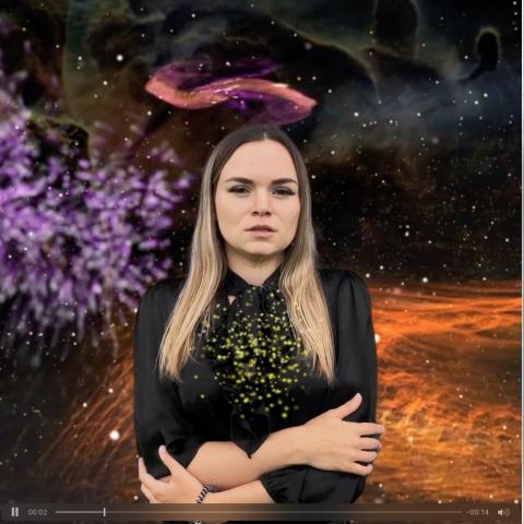 Анимация для инстаграм по астрологии.