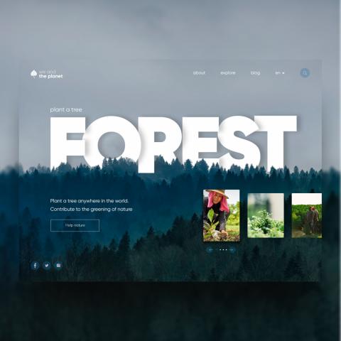 Главный экран сайта посадки деревьев