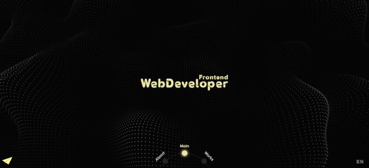 Сайт портфолио с использованием WebGL на Vue