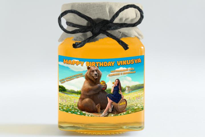 Наклейка на банку мёда
