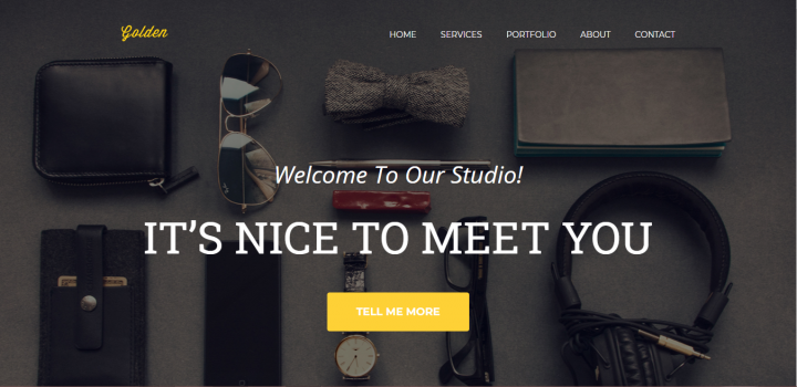 Golden one page web template