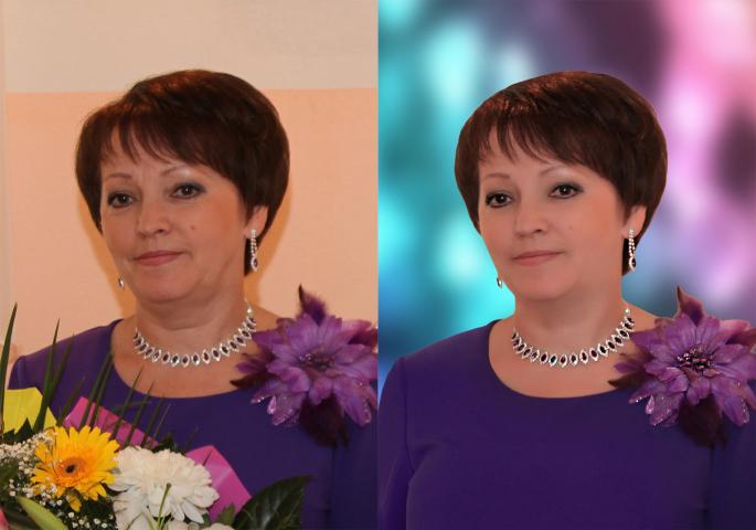 портретная ретушь, пластика, замена фона