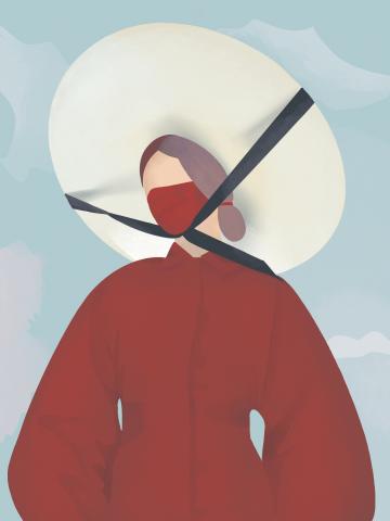 Иллюстрация - женщина в шляпе