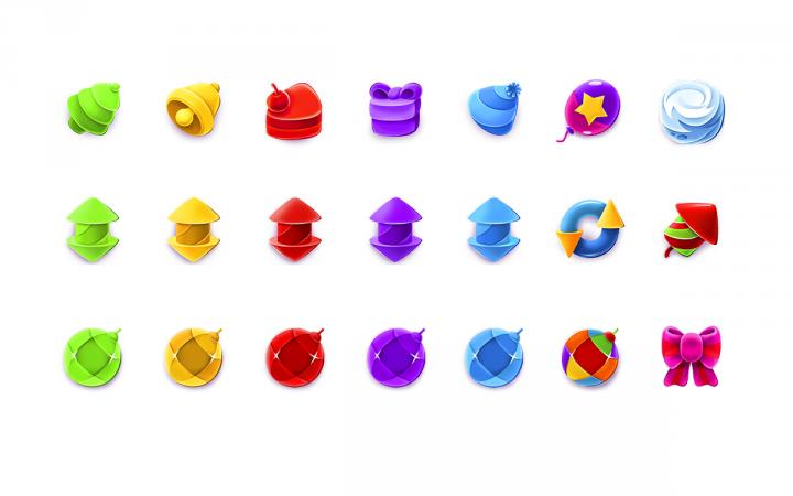 Иконки для матч 3 игры