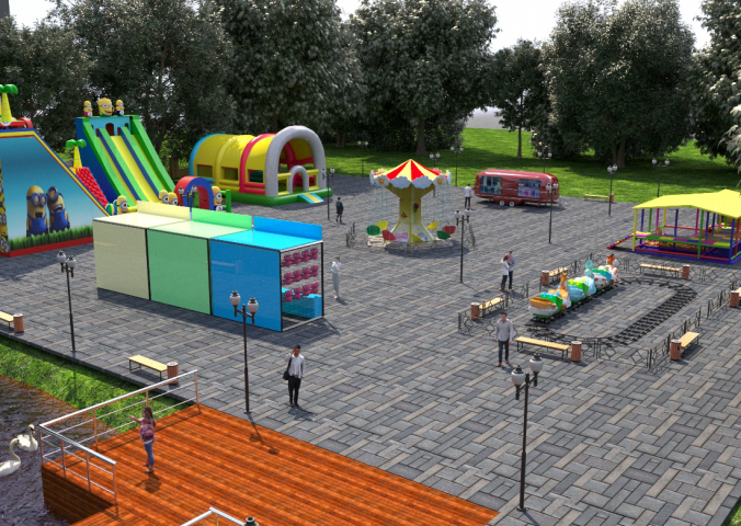 Визуализация будущего парка