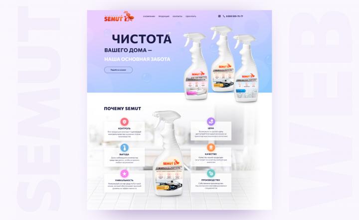 Сайт-каталог бытовой химии
