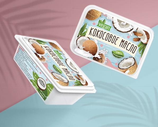 Дизайн этикетки кокосового масла VEGAN