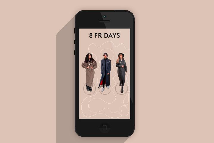Сторис Instagram — «Магазин женского пальто 8 FRIDAYS»