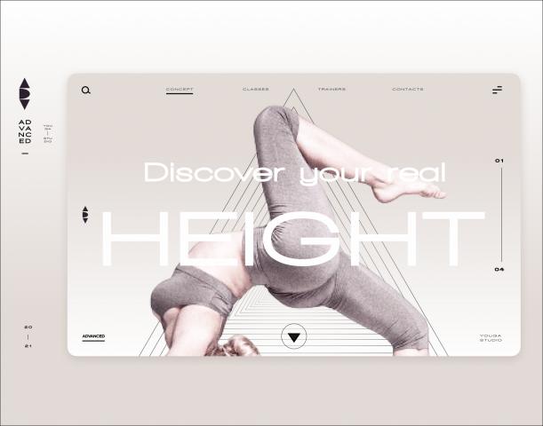 Веб-дизайн, брендинг, логотип и копирайтинг сайта студии йоги
