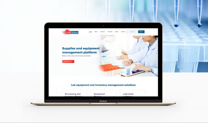 Сайт для лабаратории
