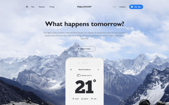 "Веб-сайт для приложения ""What happens tomorrow?"""