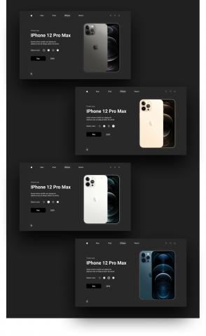 Лендинг Iphone 12