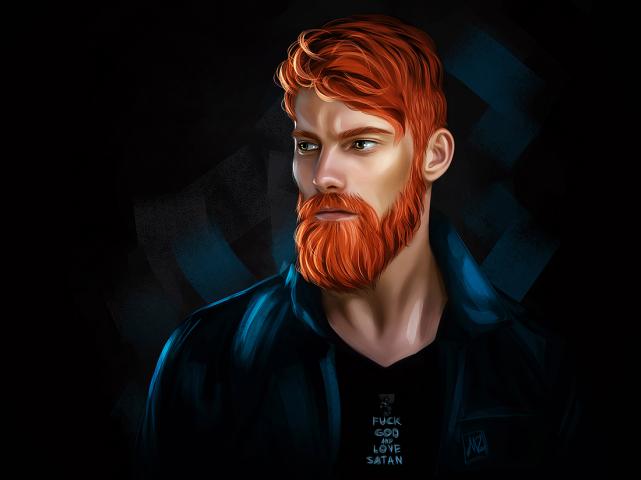 Redhead man (Digital art)